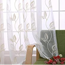 Fresh Bestickt Sheer Vorhang Tuch Fr Schlafzimmer Wohnzimmer Kche Gardinen 200 Cmx270 Cm 80 X