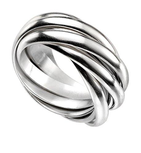 Elemente Silver Schwergewicht russischen Ehering Ring, Silber, Y (Russische Eheringe)