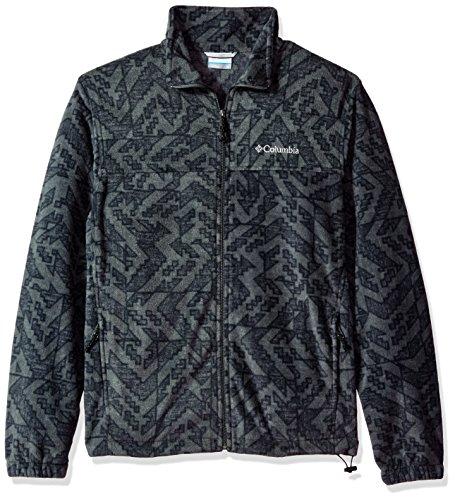 Columbia Men's Big and Tall Cascades Explorer Full Zip Fleece Jacket, Grill Galicut Grey, XX-Large