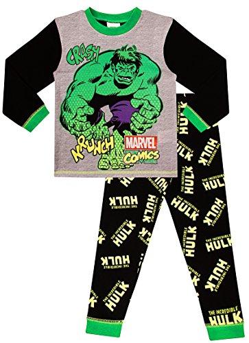 The Pyjama Factory der Unglaubliche Hulk Crash Krunch Pyjama PJ Pjs Boys Schlafanzug (4-5 Jahre 104-110cm)