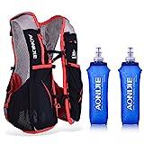 Lixada - Mochila de hidratacion(5L, Compartimento para Agua de 1.5 L) (S-M+2PCS 500ML Bottles)