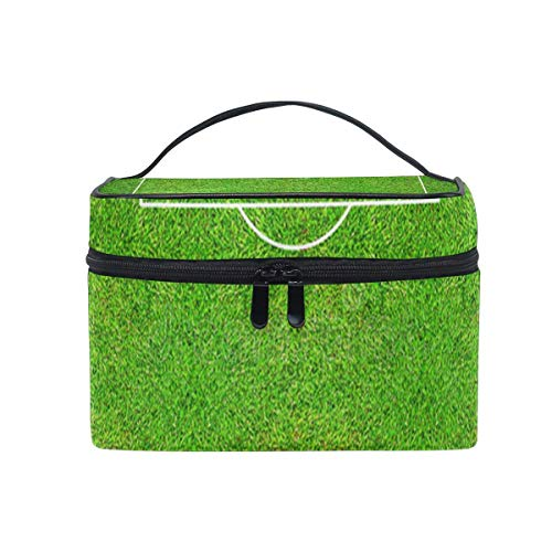 Tragbare hängende Make-up Kosmetiktasche Tasche,Makeup Bag Half of Football Field Or Soccer Cosmetic Bag Portable Large Toiletry Bag for Women/Girls Travel -