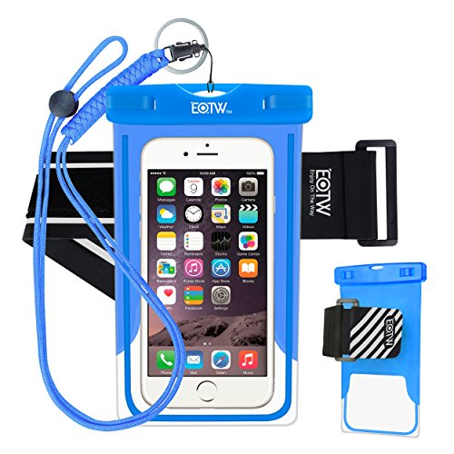 e0b84dd0d0e EOTW Funda Impermeable Certificado IPX8 Universal para teléfonos hasta 6  pulgadas con brazalete deportivo para deportes