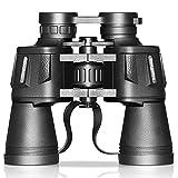 Outdoor-Teleskop Sightseeing-Teleskop Große Okulare 20x50 HD High-Power-BAK4 Binocular Clear Night Vision-Optic Objektiv wasserdichtes Teleskop for Tourismus, Sightseeing, Ballsport - Schwarz