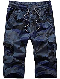 Newbestyle Men Summer Camouflage Shorts Cotton Multi Pocket Casual Shorts