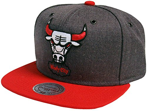 Mitchell & Ness NBA Chicago Bulls Casquette UNIQUE, bleu gris rouge
