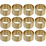 ARN Craft Handmade Gold Napkin Rings Set of 12 Brass for Home Kitchen Dining Room Table (CW- 08-12)