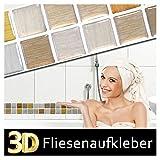 Wandaro 5er Set 25,3 x 5 cm Kupfer Gold Silber Fliesenaufkleber I Selbstklebend 3D Mosaik Küche Bad Fliesendekor Fliesen Aufkleber Wandtattoo W3357