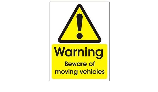 Warning Beware Of Moving Vehicles Sign 300mm x 400mm - Rigid Plastic