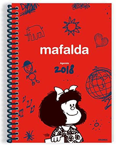Granica Mafalda–Agenda anillada 2018, couleur rouge par  Granica