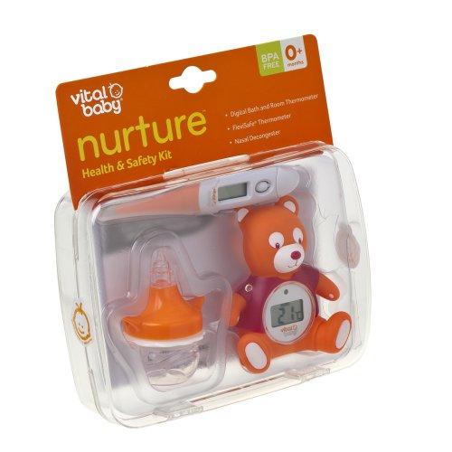 Vital Baby Hygiene- und Gesundheitsset mit Raumthermometer, Nasenaspirator und Thermometer - 3