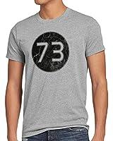 style3 Sheldon Lieblingszahl 73 Herren T-Shirt
