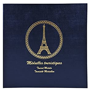 Exacompta 96114e-Carpeta para 100Souvenir de medallas, Color Azul Oscuro