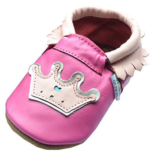 Jinwood designed by amsomo Moccasin Crown Fuchsia Mini Shoes, EU 26/27 (Kinder Schuhe Wildleder Fuchsia)
