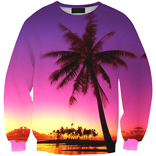 YICHUN Femme Fille T-Shirts de Loisir Tops Tee-Shirt Fin Sweat-shirts Sweaters Pulls Blouse Pull-Overs Imprimé Arbre 19#