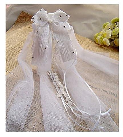 SwirlColor Communion Veil de Flower Girl / Ruban Bow Casques / Voiles pour les enfants