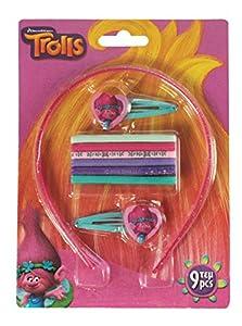 Diakakis-0504609u-Set 9Accesorios Cabello bajo Licencia los Trolls