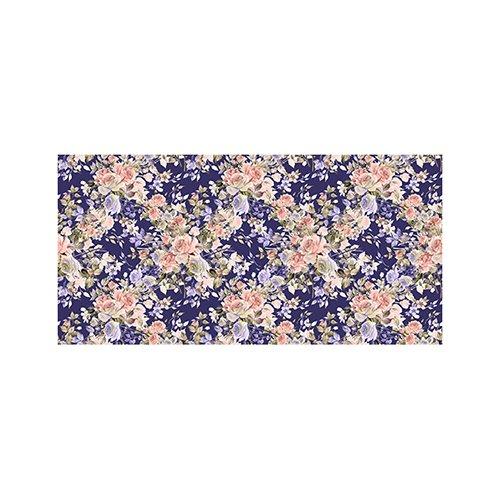 Printodecor - Alfombra Vinílica Impresa, Multicolor (Floral Purple Dream), 97 x 48 cm
