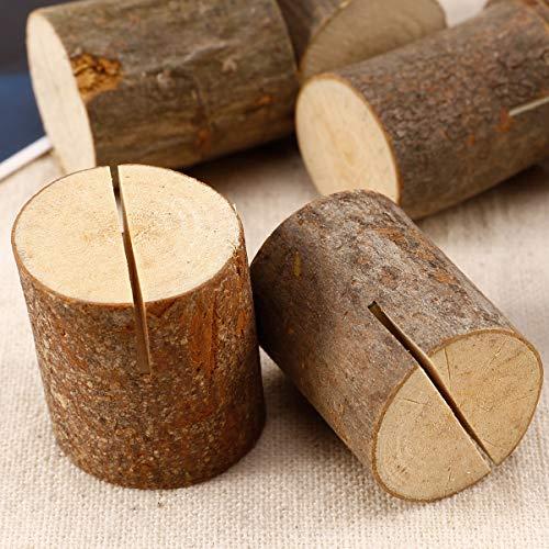 Rustikale Tischkartenhalter aus Holz - 6