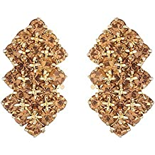 FirstBlush Yellow Metal, Gold Plated, Non Precious Metal Non Piercing Clip-on Earrings for Non Pierced Ear for Girls and Women