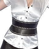 Gotico nero Rivetti in vita corpetto * Taglia S - XL * cintura in vita * corpetto