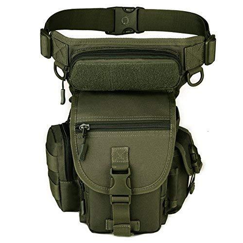 Huntvp Bolsa de Pierna de Múltiple Función Estilo Militar Táctical Bolso de Cintura Impermeable Riñonera para Herramientas para Correr Senderismo Ciclismo Camping Caza etc