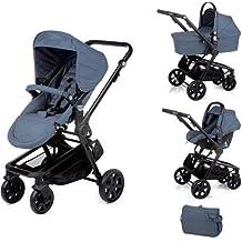 Nurse City 3 Piezas - Sistema modular de silla de paseo y capazo, color soft denim mix