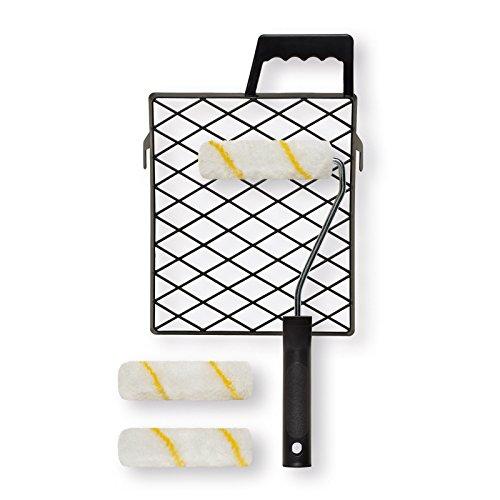Preisvergleich Produktbild ROLLER 5-teiliges Farbroller-Set - Gitter - Rollen - Bügel