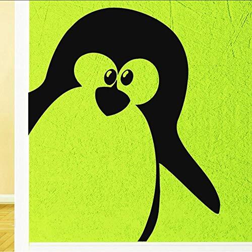 Fagreters 42 cm x 35 cm vinilo etiqueta de la pared pingüino lindo animal polo norte decoración fresca diy decoración del hogar dormitorio dormitorio arte murales