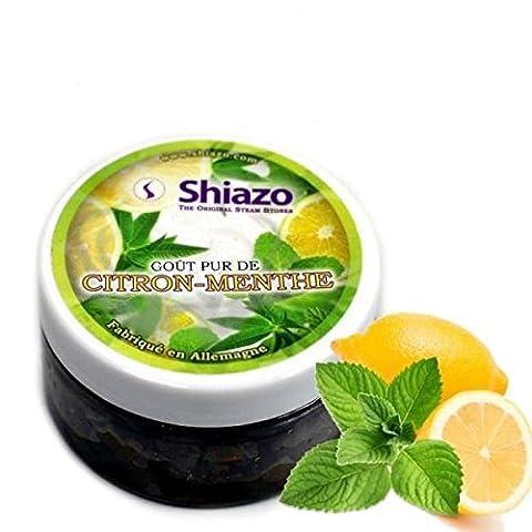 SHIAZO - Pierre à Chicha à Vapeur pour Foyers, Goût Menthe/Citron (Sans Tabac, Sans Nicotine, Saveur Intense)