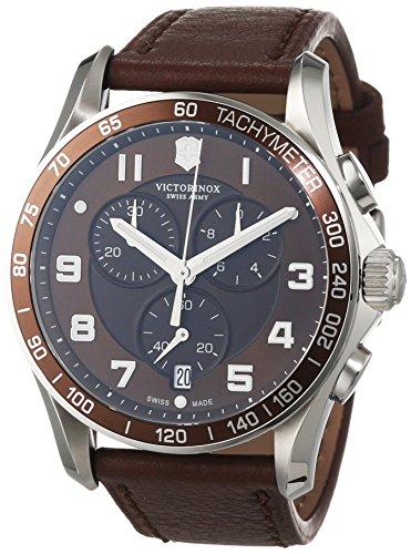 Victorinox Swiss Army Herren-Armbanduhr Chronograph Quarz Leder 241653 (Watch Army Swiss Herren)