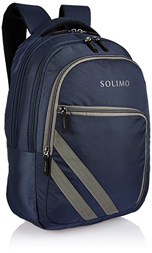 Amazon Brand - Solimo Travel Backpack (29 litres, Midnight Blue & Steel Gray) Image 2