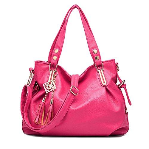 Baymate Ms. klassische Handtaschen beiläufige Art und Weise weiche Tasche Kuriertasche Frau tragbare Umhängetasche Rose