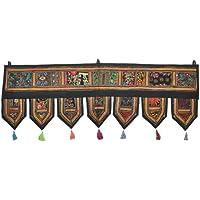 Étnico indio del remiendo decorativo y fatalidad para puerta de tiro Glorafilia, 39 x 33,02 cm