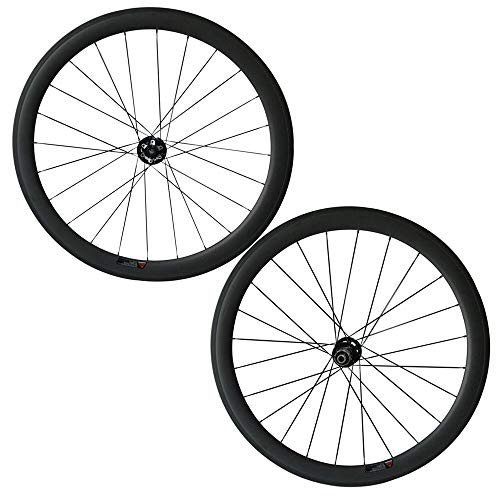 FidgetGear Pro Wheels 50 mm Clincher Carbon Räder Scheibenbremse Nabe mit Sapim Cx-ray Speiche, 23mm, Novatec D791SB/D792SB hub -