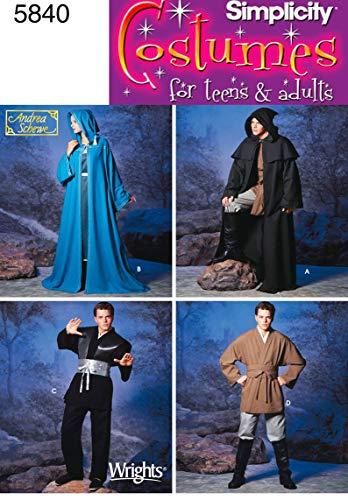 Kostüm Komplette Mittelalter - Simplicity Schnittmuster 5840, EIN Kostüm für Damen, Herren und Jugendliche