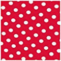 Wachstuch Tischdecke Gartentischdecke mit Fleecerücken Gartentischdecke, Pflegeleicht Schmutzabweisend Abwaschbar Punkte Rot Weiss - Größe wählbar von Moderno - Gartenmöbel von Du und Dein Garten