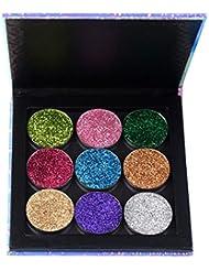 ROPALIA Fard à Paupières Pailletté, ROPALIA Diamant Or Ombre à Paupières Paillettes Poudre Palette de Maquillage Yeux