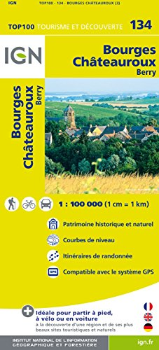 Top100134 Bourges/Chateauroux 1/100.000
