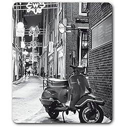 1art1 93915 Vespas - Eine Straße In Amsterdam Im Winter Mauspad 23 x 19 cm