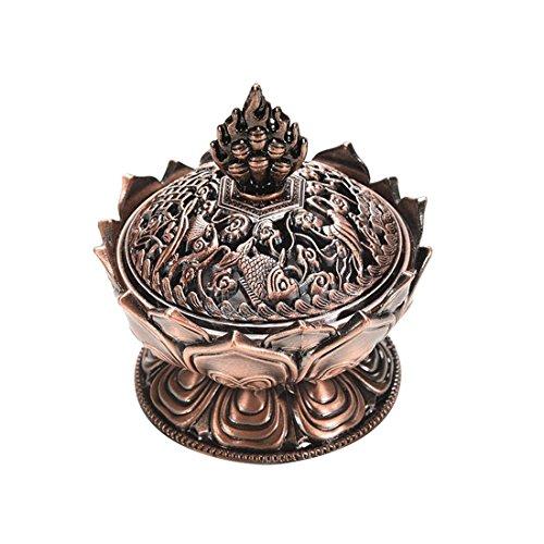Lotus tibetana Diseñado aleación de bronce del arte del quemador de