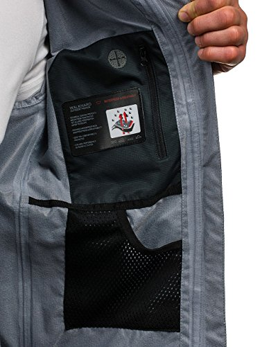 BOLF Herren Übergangsjacke Sweatjacke Bomberjacke Kapuze Sport Jacke 4D4 Motiv Dunkelgrau