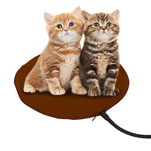 FOCHEA Manta Eléctrica para Perro y Gato 12W Cojín de Calefacción para Mascotas con 7 Temperaturas Ajustables, Ideal para Interior Cama Coche