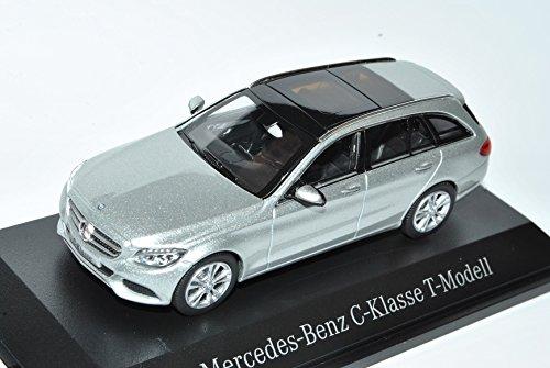 Norev Mercedes-Benz C-Klasse T-Modell Kombi Iridium Silber W205 Ab 2014 1/43 Modell Auto