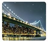 WENKO 2712920100 Motivplatte Brooklyn Bridge - für Glaskeramik Kochfelder, Schneidbrett, Gehärtetes Glas, 56 x 0.5 x 50 cm, Multicolor