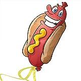 Cerf-volant hotdog pour enfants – Vole même avec une légère brise – le meilleur jeu de plage – très résistant – facile à faire voler avec une garantie à vie - 100% satisfait ou remboursé