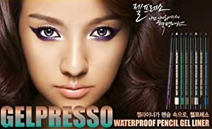 Brand New Clio Gelpresso Waterproof Pencil Gel Eyeliner (Golden Black) by Clio