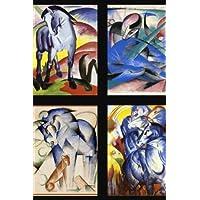 Franz Marc Blue Horse Art Collage Lined