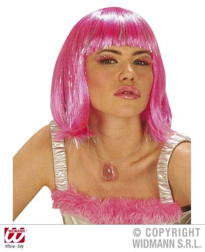 Damen Neon Pink Sexy Bob Perücke Jessie J Lady Gaga Fancy Kleid