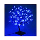 90er LED Baum 60cm Hoch Kirschbaum Lichterbaum Baum Weihnachten Innen (Blau)